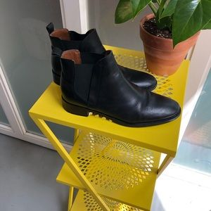 Top shop black leather booties